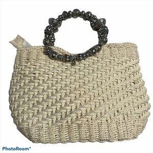 Cappelli Straworld Woven Straw Handbag